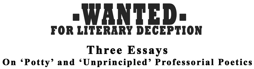 Wanted for Literary Deception